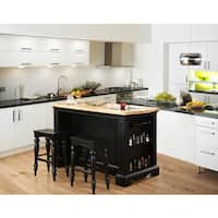 Powell Raeford Kitchen Island and Stool Set