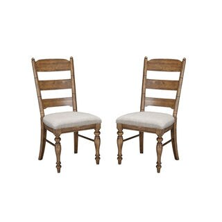 Lake House Brushed Sand Ladderback Dining Chair (Set of 2)