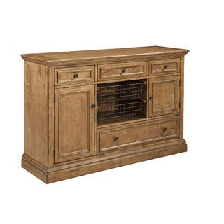 Lake House Brushed Sand Sideboard With Wire Baskets