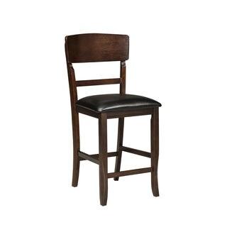 Hampton Panel Back Upholstered Seat Barstool (Set of 2)