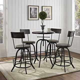 Modway Gather 5-piece Tall Dining Set