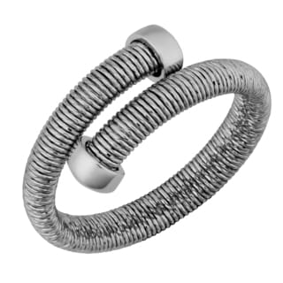 Argento Italia Rhodium Plated Sterling Silver Coil Bypass Ring