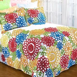 Summer Garden 100-Percent Cotton Chenille Bedspread