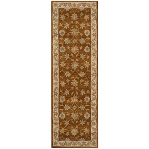 Handmade One-of-a-Kind Mahal Wool Runner (India) - 2'6 x 8'