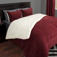 Windsor Home 3-piece Sherpa/Fleece Comforter Set