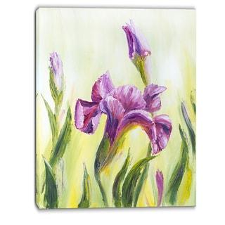 Designart - Dancing Irises - Floral Canvas Art Print