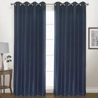 Luxury Collection Herringbone Woven Grommet Blackout Curtain Panel
