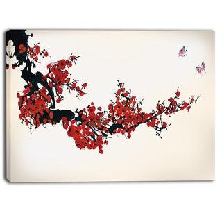 Designart - Floral Winter Sweet - Digital Art Floral Canvas Art Print