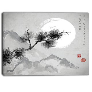 Designart - Pine Tree Branch - Japanese Canvas Art Print