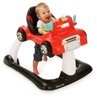 Kolcraft Racer Red 4x4 2-in-1 Activity Walker with Electronic Toy Steering Wheel and Car Sounds