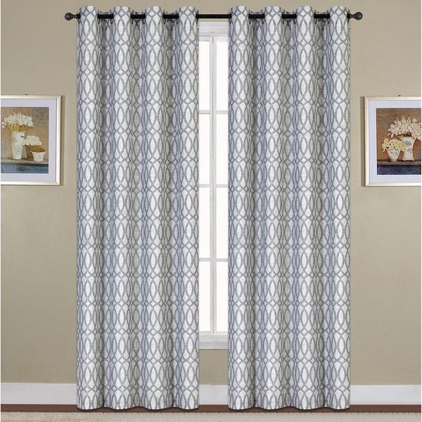 Luxury Collection Oakland Woven Grommet Curtain Panel