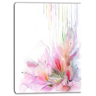 Designart - Floral Composition - Abstract Floral Print on Canvas