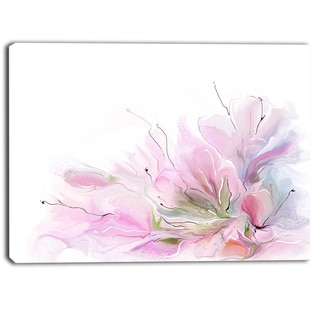 Designart - Lovely Pink Flowers - Floral Contemporary Canvas Art Print
