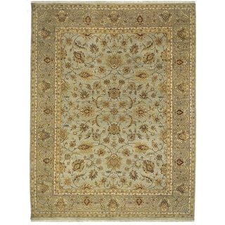 Bethany Gold Traditional Hand-knotted Rug (12' x 15')