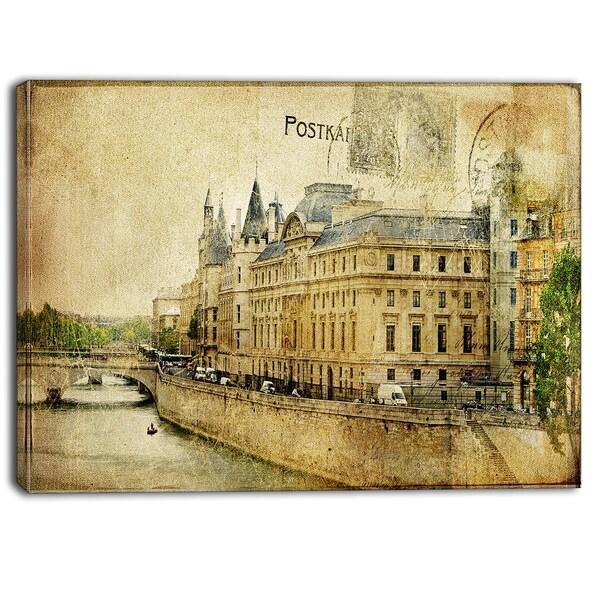 Designart - Old Parisian Cards - Digital Canvas Art Print