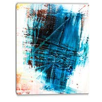 Designart - Abstract Blue Structure Art - Abstract Canvas Art Print