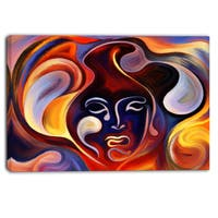Designart - Waves of Thought - Abstract Large Canvas Art Print