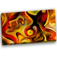 Designart - Butterfly's Emotions - Abstract Canvas Art Print