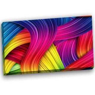 Designart - 3D Rainbow Art - Abstract Canvas Artwork