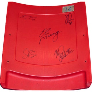 "New York Giants ""Super Bowl XLII"" 5 Signature Seatback (LE/ 100)"