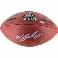 Michael Boley Signed Super Bowl XLVI Football