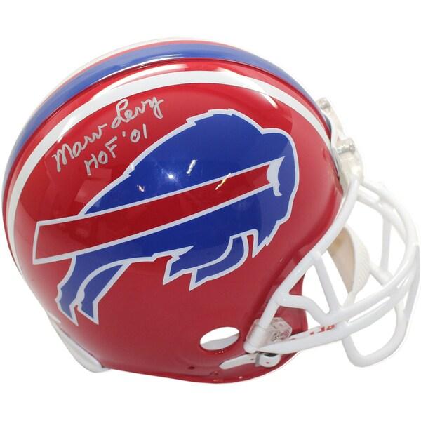 Marv Levy Signed Authentic Red Bills Helmet w/ HOF insc
