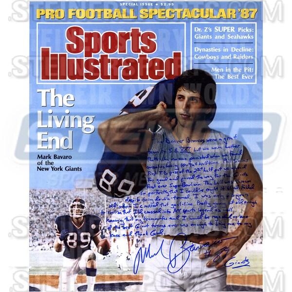 Mark Bavaro Signed Sports Illustrated 16x20 Story Photo