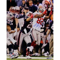 Mario Manningham Super Bowl XLVI Catch Horizontal 8x10 Photo Signed