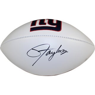 Lawrence Taylor Signed New York Giants White Panel Jarden Signature Football - Black
