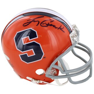 Larry Csonka Signed Syracuse University Replica Mini Helmet