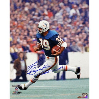 "Larry Csonka Signed Dolphins 16x20 Photo w/ ""SB VIII MVP"" insc"