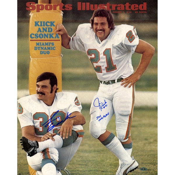 Larry Csonka and Jim Kiick Signed Dual Dolphins Sports Illustrated Cover w/  Still Undeafeated Inscribe by Jim Kiick