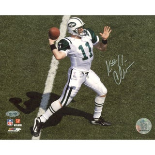 Kellen Clemens Jets Overhead Passing White Jersey Horizontal 16x20 Photo