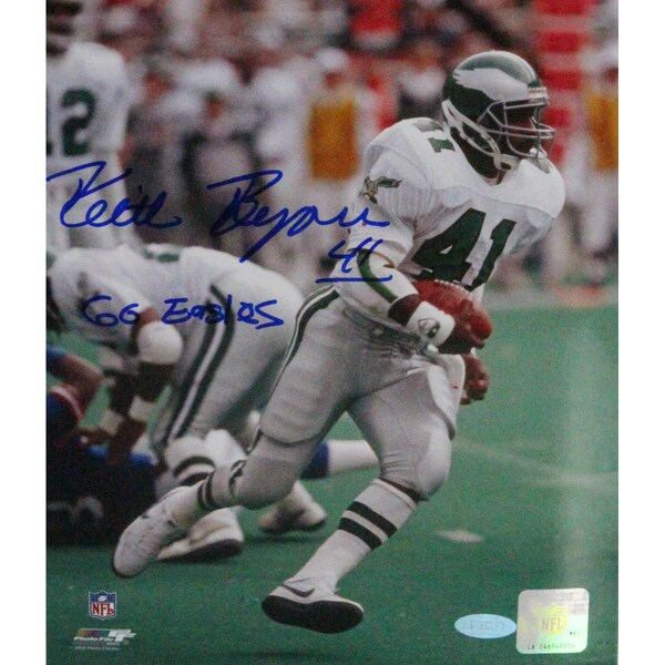 """Keith Byers Signed 8x10 Photo w/ """"Go Eagles Insc"""""""