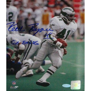 "Keith Byers Signed 8x10 Photo w/ ""Go Eagles Insc"""