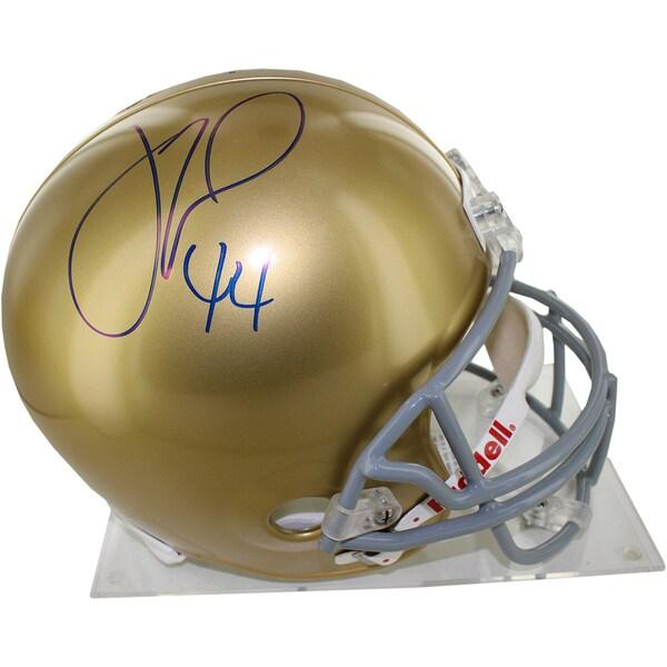 Justin Tuck Signed Notre Dame Full Size Replica Helmet