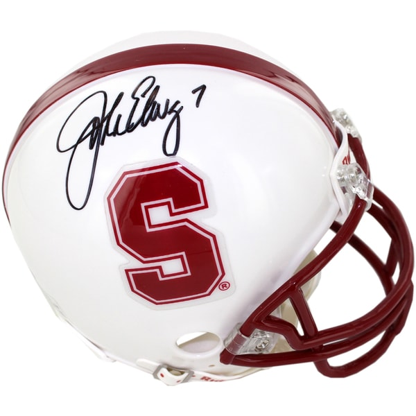 Jonh Elway Signed Stanford Mini Helmet