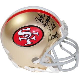 John Taylor Signed San Francisco 49ersMini Helmet w/ 3x SB Champs Insc
