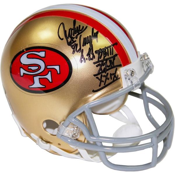 "John Taylor Signed San Francisco 49ers Mini Helmet w/ ""SB XXII, XXIV, XXIX"" Insc."
