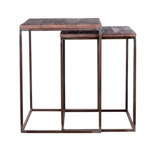 Teak and Iron Nesting Tables (India)