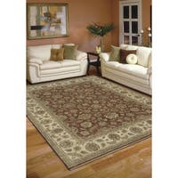 Bethany Red/ Beige Traditional Hand-knotted Rug (12' x 15')