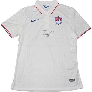"Tim Howard Signed USA White Collar USNT Jersey W/ ""USA"" Insc. (JSA Auth)"