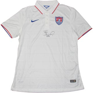 "Tim Howard Signed USA White Collar USNT Jersey W/ ""USA"" Insc. (JSA Auth)"