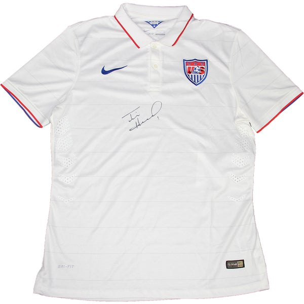 Tim Howard Signed USA White Collar USNT Jersey ( JSA)