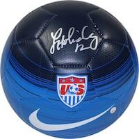 Lauren Holiday Signed Team USA Blue Soccer Ball - Black