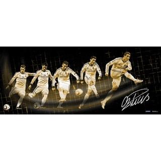 Cristiano Ronaldo Signed Real Madrid Shot Progression 16.5x39 Photo ( Icon Auth)