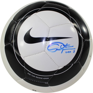 Christie Rampone Signed Nike Aero Black & White Replica Soccer Ball