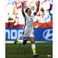 Carli Lloyd Signed 2015 World Cup Goal Celebration 16x20 Photo ( PSA) - Black