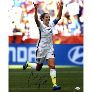 Carli Lloyd Signed 2015 World Cup Goal Celebration 16x20 Photo ( PSA)