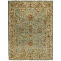 Bethany Aqua Traditional Hand-knotted Rug (12' x 15') - 12' x 15'